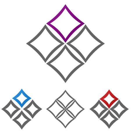 square logo: Rounded square logo vector. Square icon symbol design template set. Illustration