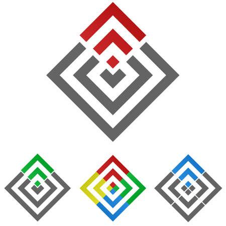 square logo: Square logo vector. Square icon symbol design template set