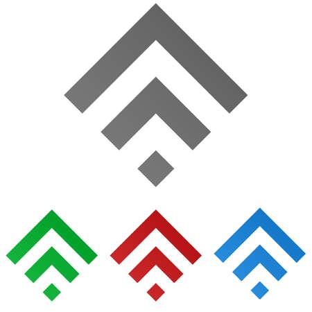 squared: Squared logo vector. Squared icon symbol design template set. Illustration