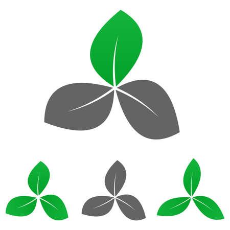 enviroment: Green garden logo vector. Garden  icon symbol design template set for leaf, organic, nature, life, enviroment concepts.