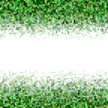 diffuse: Green irregular rectangle mosaic vector background border