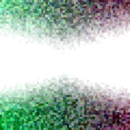 irregular: Horizontal color irregular rectangle mosaic vector background