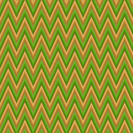 chevron pattern: Green and brown chevron pattern vector background design