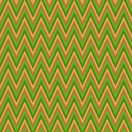 chevron pattern: Green and brown chevron pattern vector background design