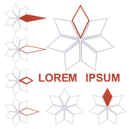rotated: Star logo vector. Star icon symbol design template set.