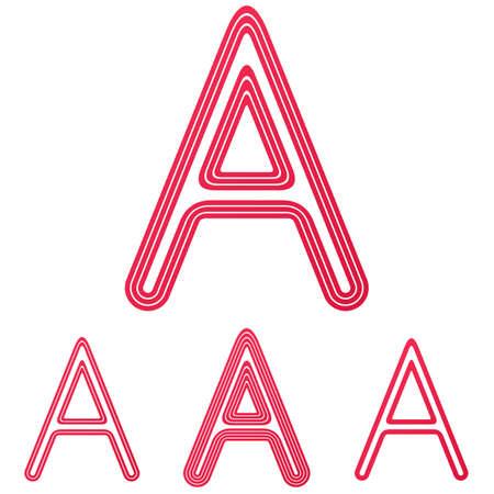 crimson: Crimson line letter a logo design set