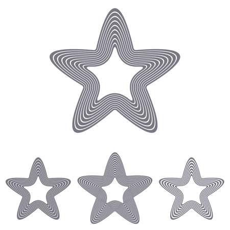 occultism: Grey line star   icon design set