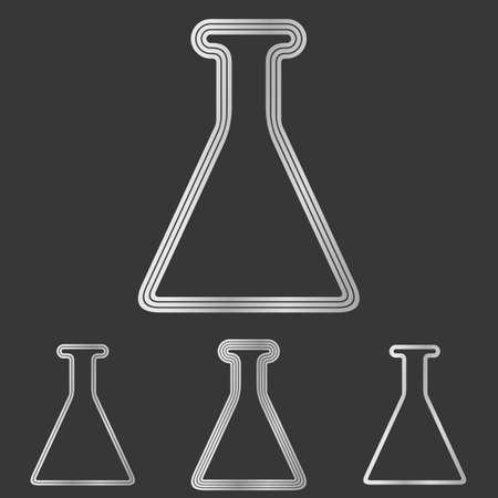 laboratory symbol: Silver line laboratory symbol