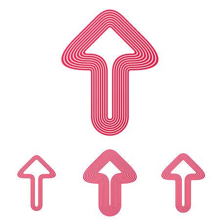 crimson: Crimson line arrow symbol   design set