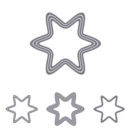 grey line: Grey line star   icon design set