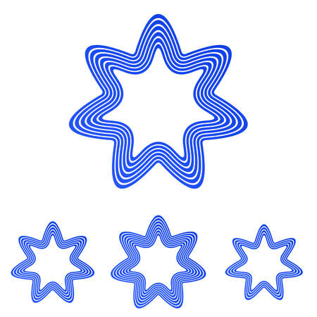 blue star: Blue star   icon vector design set