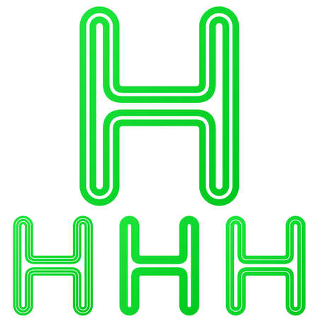green line: Green line letter h Illustration