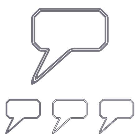 comment: Grey line comment icon   design set