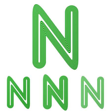 green line: Green line letter n