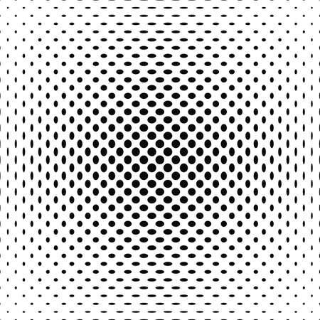centered: Centered black and white polka dot pattern