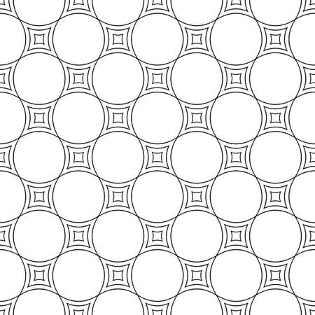 curved line: Seamless black white abstract curved line pattern design background