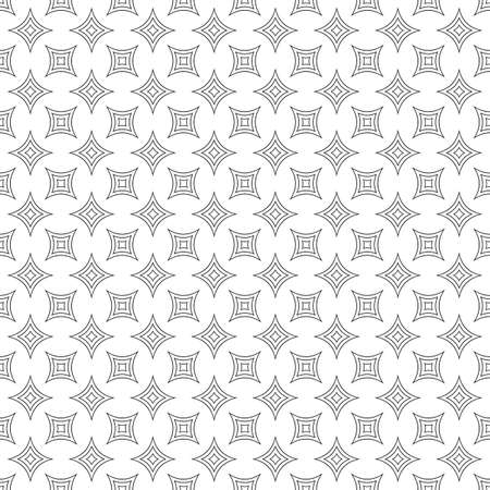 star pattern: Repeating monochromatic vector curved star pattern design
