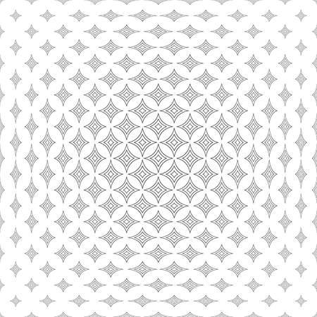 star pattern: Repeating monochromatic abstract curved star pattern background