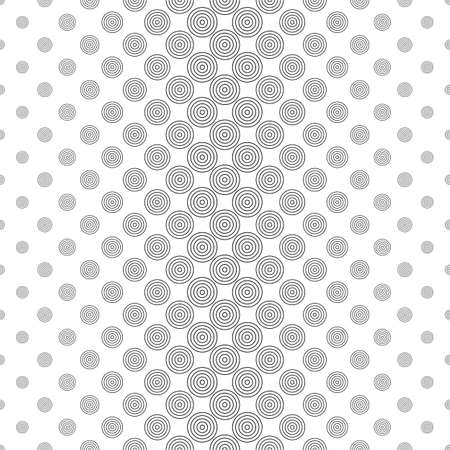 bleb: Repeat black and white vector circle pattern design Illustration