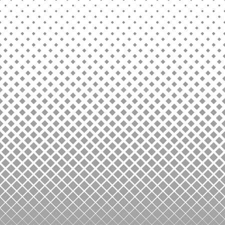 Seamless monochrome vector square pattern design background Illustration