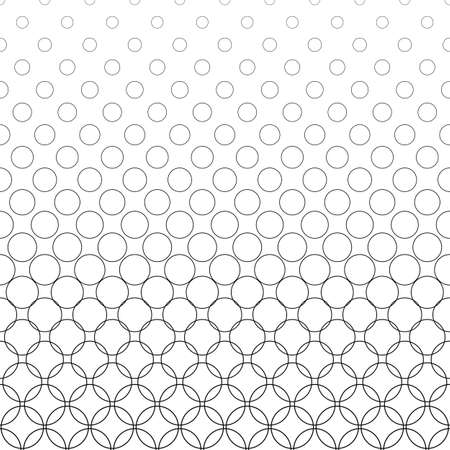 bleb: Seamless black and white vector circle pattern background Illustration