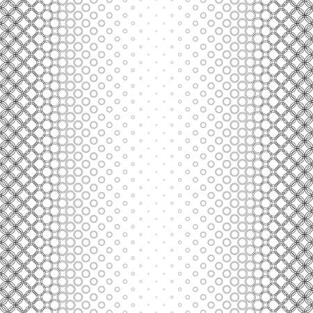 bleb: Repeating black and white vector circle pattern background