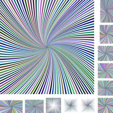 hypnose: Abstract spiral design background set. Different color, screen, paper size versions. Illustration