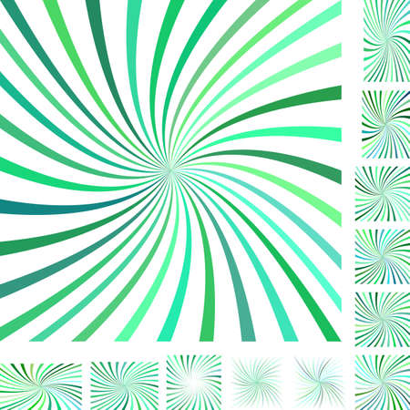 gyration: Green and white vector spiral design background set. Different color, gradient, screen, paper size versions.