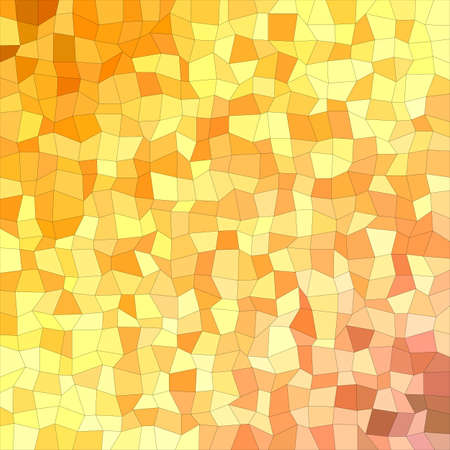 irregular: Orange and yellow irregular rectangle mosaic vector background Illustration
