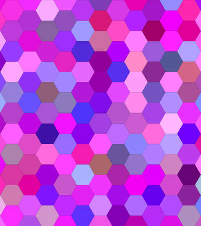 Pink colorful hexagon mosaic vector background design Illustration