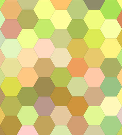 hexagonal shaped: Light color hexagon mosaic vector background design