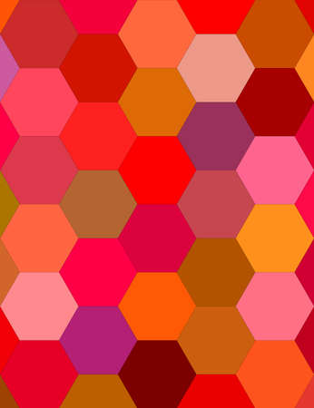 Multicolor hexagon tile mosaic vector background design