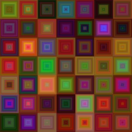 Dark color square mosaic vector background design Illustration