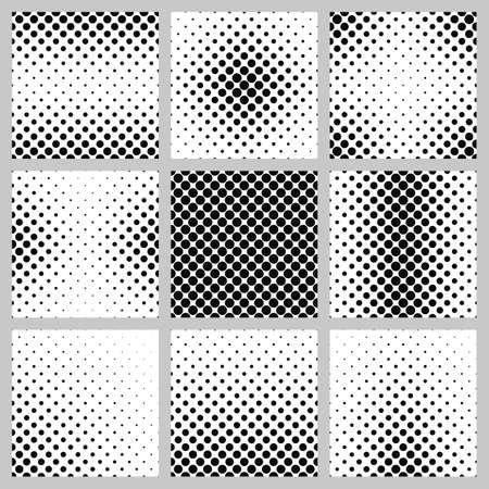 Set of nine monochrome dot pattern designs