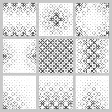 diagonal  square: Set of nine monochrome diagonal square pattern designs