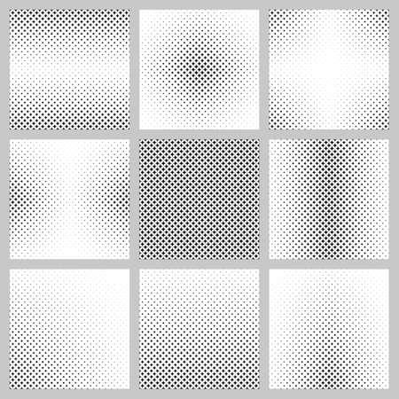 star pattern: Black and white curved star pattern set Illustration