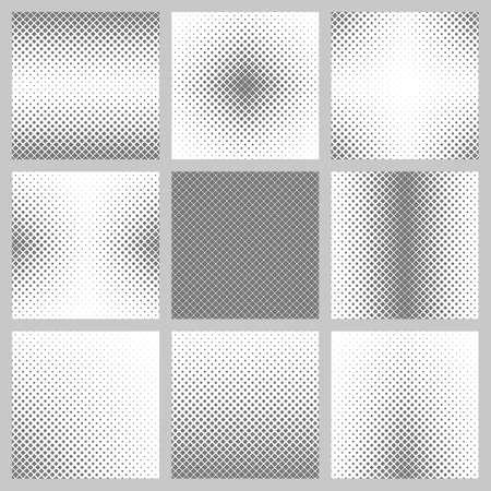 diagonal  square: Set of nine diagonal square pattern designs Illustration