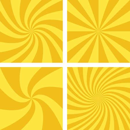 light brown: Golden and light brown vector spiral design background set. Illustration