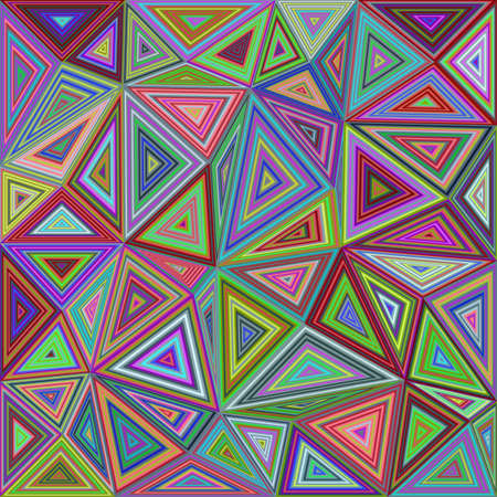 Colorful triangle mosaic tile background design vector