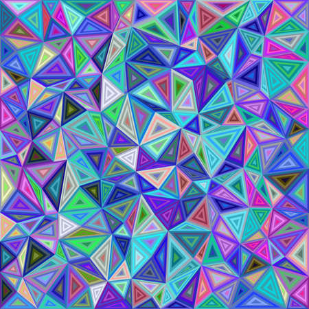 Colorful chaotic vector triangle mosaic tile background