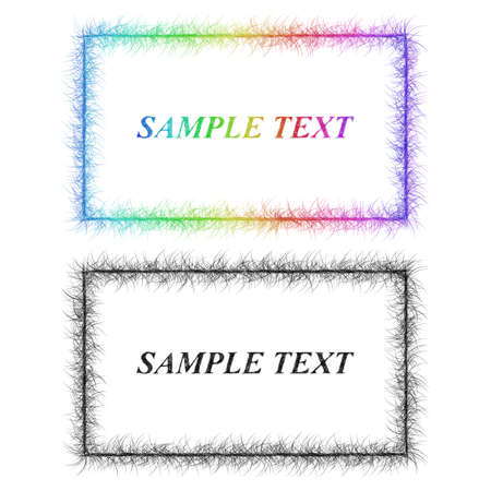 Sketch business card border templates in rainbow colors royalty free 63667211 colorful and black sketch business card frame designs fbccfo Gallery