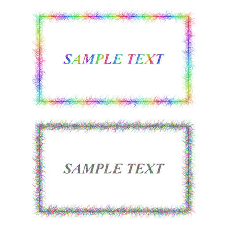 Sketch business card border templates in rainbow colors royalty free 63667209 colorful and black sketch business card frame designs accmission Gallery