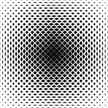 centered: Black and white centered vector square pattern design