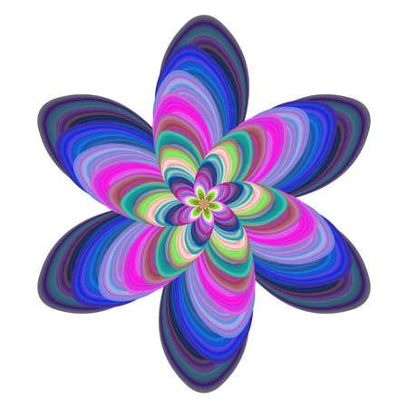 computer art: Colorful computer generated floral fractal art design