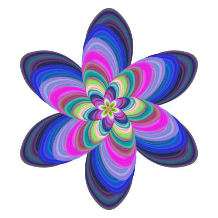 Colorful computer generated floral fractal art design