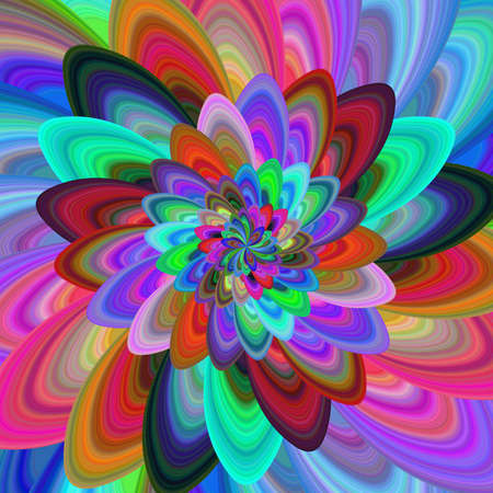 computer generated: Crazy flower - colorful abstract computer generated vector fractal background Illustration