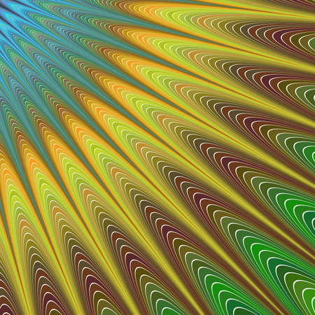 sunshine abstract: Colorful sunshine - abstract computer generated vector fractal background design