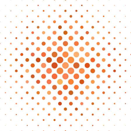 Orange dot design motif de fond - illustration vectorielle Vecteurs