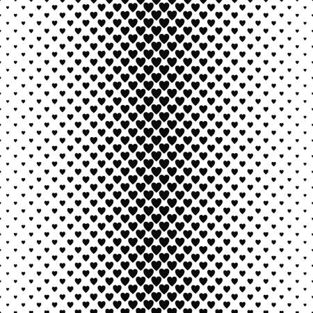 heart pattern: Abstract monochrome vertical heart pattern background design Illustration