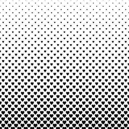 heart pattern: Abstract monochrome heart pattern vector background design